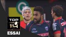 TOP 14 ‐ Essai d'Edward SAWAILAU (FCG) – Grenoble-Lyon – J26 – Saison 2016/2017