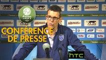 Conférence de presse AJ Auxerre - ESTAC Troyes (2-3) : Cédric DAURY (AJA) - Jean-Louis GARCIA (ESTAC) - 2016/2017