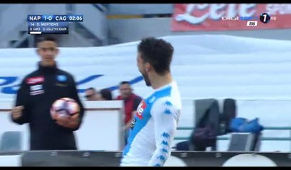 Dries Mertens Goal HD - Napoli 1-0 Cagliari - 06.05.2017