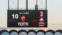 Renato Maisani  Totti per lultima volta a San Siro La tifoseria del Milan regala al Capitano della Roma uno splendido applauso MilanRoma