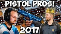 BEST PRO PISTOL PLAYERS IN 2017! [Crazy Frags!] #CSGO
