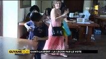 Reportage de ma nièce Alice pour 1ère Guyane Soir - Saint-Laurent, la leçon par le vote