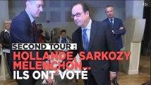 Second tour : Hollande, Sarkozy, Mélenchon... Ils ont voté