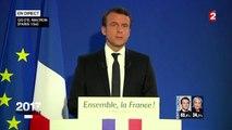 Le discours d'Emmanuel Macron après sa victoire à l'élection présidentielle