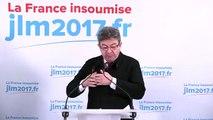 Prise de parole de Jean-Luc Mélenchon. Election présidentielle. EMMANUEL MACRON ÉLU PRESIDENT