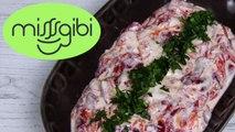 Kırmızı Biber Salatası - Közlenmiş Kırmızı Biber Mezesi (Yoğurtlu)