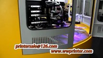 Automatic Glass Cup Screen Printing Machine of 3 Color with LED