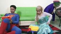Spiderman Frozen Elsa Rescue Supergirl by Bullying Joker! Superman vs Hulk Play Together Superheroes
