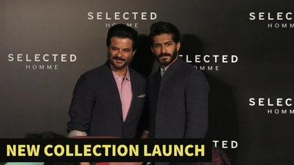 Anil Kapoor And Harshvardan Kapoor At Selected Homme Menswear Launch