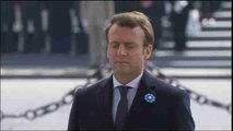 Macron recuerda a las víctimas de la II Guerra Mundial en su primer acto oficial