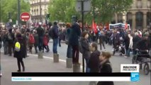 France Presidential Election: Clashes break out between protesters and police