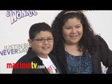 """RICO RODRIGUEZ and RAINI RODRIGUEZ at """"Never Say Never"""" Premiere"""