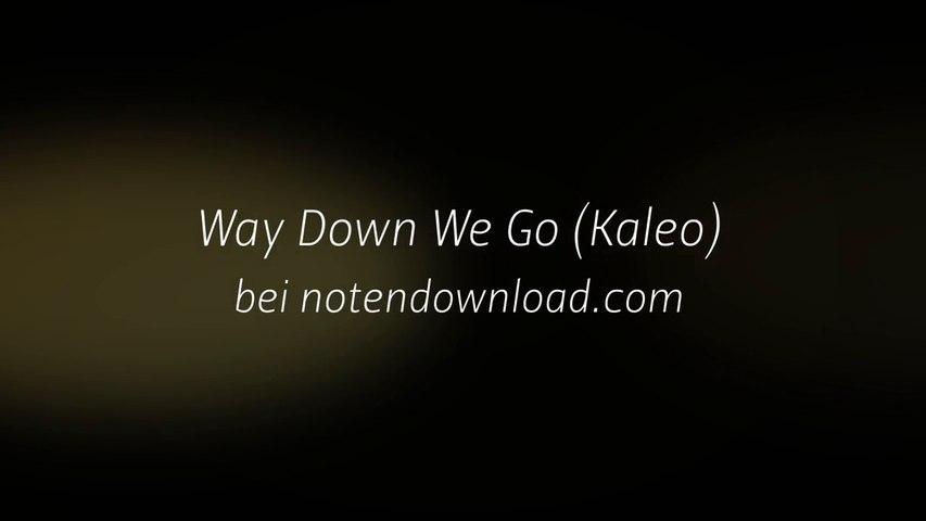 Noten bei notendownload - Way Down We Go (Kaleo)