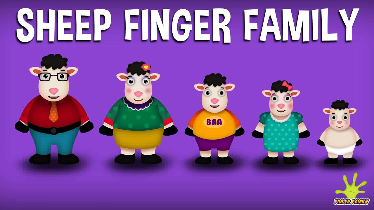 The Finger Family Sheep Family Nursery Rhyme _ Sheep Finger Family Songs