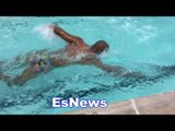 Dulorme working with alex ariza swimming for boxing EsNews Boxing