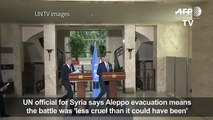 Aleppo evacuation means battle less cruel_UN
