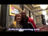 ROY JONES JR & KATHY DUVA CANDID MOMENT; ROY REVEALS WHAT HE SAW FROM WARD LAST NIGHT IN GYM
