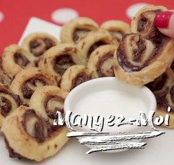Feuilletés au Nutella en cœur à savourer à deux !