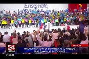 Macron participa en su primer acto público tras ganar elecciones