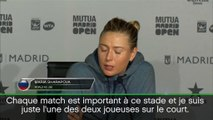 """Madrid - Sharapova : """"Je ne prête pas attention à ce qui se dit autour de moi"""""""