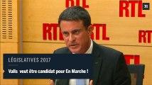 Valls veut se présenter aux législatives sous l'étiquette La République en marche