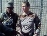Afghan Army soldiers having Masti with American female soldier