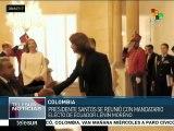 Juan Manuel Santos y Lenín Moreno se reúnen en Colombia