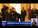 Presidente electo Lenín Moreno mantuvo una reunión con Juan Manuel Santos en Colombia