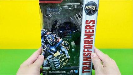 Transformers 5 Barricade police car toy 트랜스포머5 바리케이드 경찰차 장난감