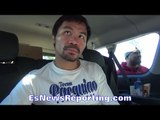MANNY PACQUIAO REVEALS WHOSE HAND SPEED KEPT UP WITH HIM - EsNews Boxing