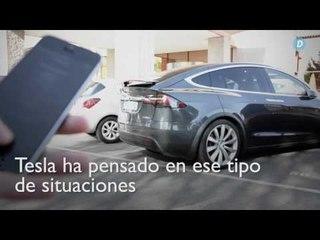 Tesla Model X: Movimiento remoto desde el movil  Diariomotor