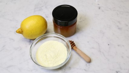 خلطة الليمون لتقشير وتبييض اليدين والقدمين