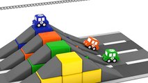 Cartoon Cars - OBSTACLE RACE with Car Crashes - Car Cartoons for kids - Children's