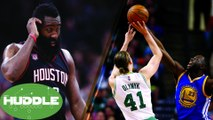 Is James Harden CHOKING vs Spurs? Draymond Green & Isaiah Thomas FIGHT Over Kelly Olynyk -The Huddle
