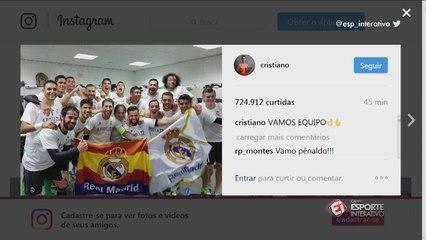 Jogadores do Real Madrid fazem a festa no vestiário do Vicente Calderón