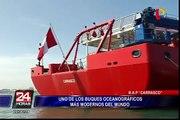 Así es el BAP Carrasco, uno de los buques oceanográficos más modernos del mundo