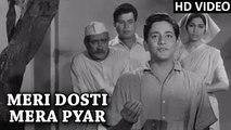 Meri Dosti Mera Pyar Full Video Song | Mohammad Rafi Hit Songs | Dosti Movie Songs 1964