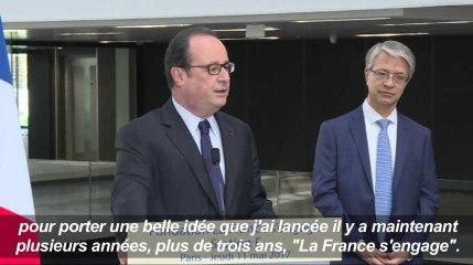 """Dernière intervention de François Hollande """"en tant que président"""""""
