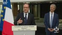 """Hollande plaisante au sujet de Macron pour sa dernière intervention """"en tant que président"""""""