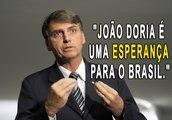 """Jair Bolsonaro fala sobre Doria em entrevista: """"João Doria é uma esperança para o Brasil ainda."""""""