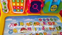 Toy Review of Touch and Learn Activity Desk Deluxe Interactive Learning System By Vtech