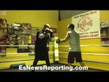 Amateur boxer Mathias Redcliffe teaching boxing at The Sports Club - EsNews Boxing