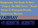 Ramprastha The Edge Tower 2 BHK 1310 Sq.ft Flats For Resale in Sector 37D Gurugram 8826997780