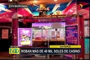 Delincuentes armados asaltaron casino en San Borja