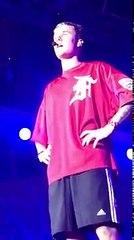 Pop Singer Justin Bieber speaking Emotionally at Mumbai Concert I Purpose Tour India - 2017