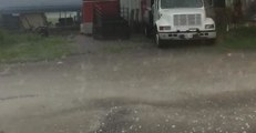 Heavy Hail Creates Dangerous Driving Conditions in Oklahoma