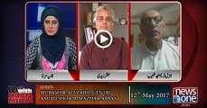 10pm with Nadia Mirza | 12 May-2017 | Mubashir Ali Zaidi, Gen (R) Amjad   Shoaib, Mazhar Abbas |
