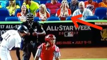 Fine Ass Marlins Fan DISTRACTS Cardinals Pitcher with Her Boobs