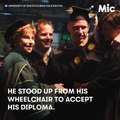 This wheelchair bound student just walked around the graduation stage [Mic Archives]