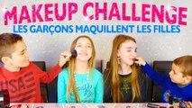 MAKEUP CHALLENGE Garçons VS Filles - Swan & Néo maquillent les filles...